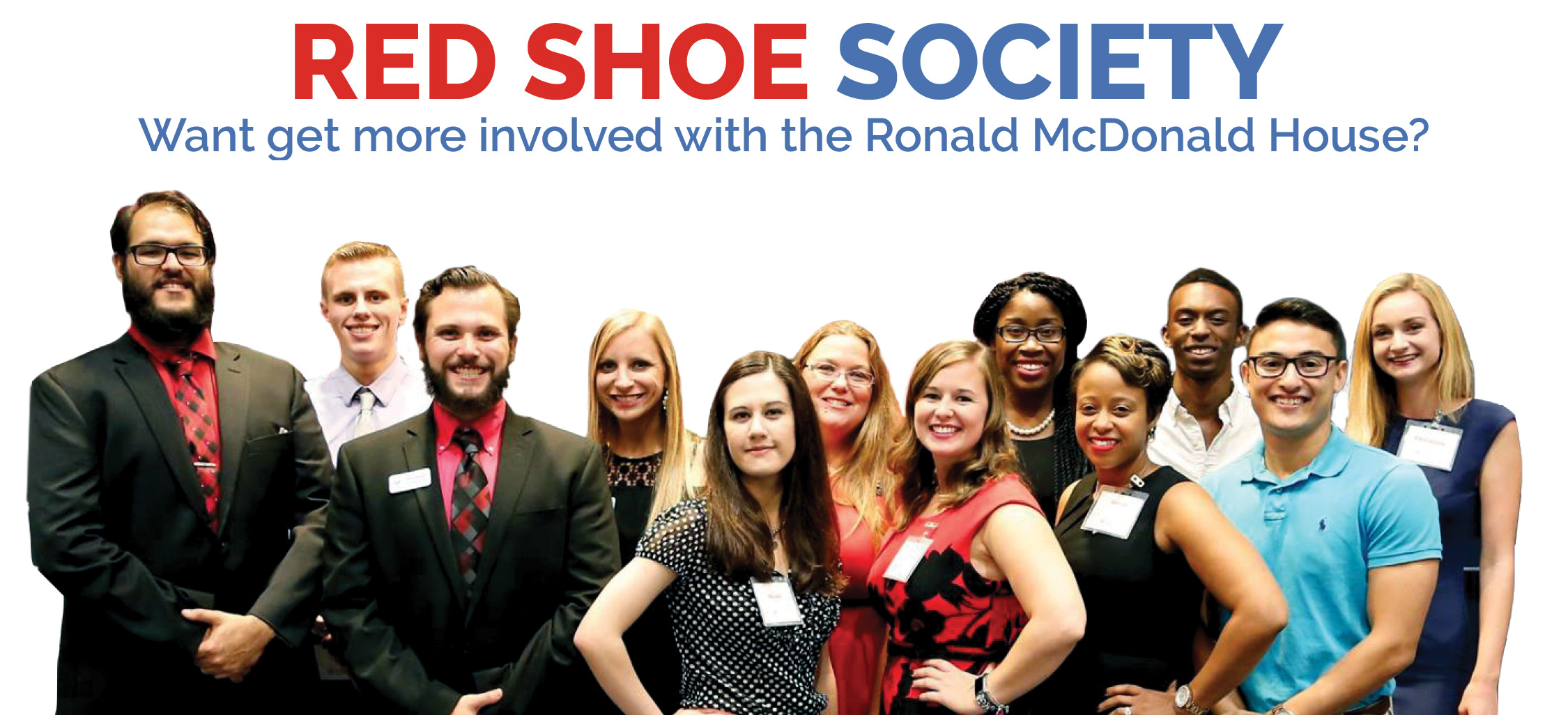 Red Shoe Society Image Banner with the whole team